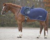 Fleece uitrijdeken - donkerblauw - maat pony
