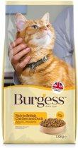 Burgess cat adult rijk aan kip en eend kattenvoer 1,5 kg