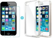 Ultra Dunne TPU silicone case hoesje (FULL Coverage) met Met Gratis Tempered glass Screenprotector 9H iPhone 5 5S SE - Premium Protection Kit