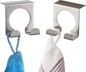 ComfortTrends Deurhaken RVS 5 x 4,5 x 4,9 cm. - Haken voor (kast)deuren