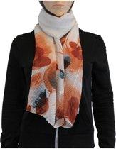 Sjaal 100% Viscose Oranje Multi Color