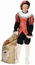 Rood met zwart Pieten kostuum voor kinderen - Pietenpak 140