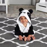 Baby badjas, zwart/wit, panda
