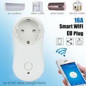 WiFi Smart Plug, WiFi Smart Socket Remote Control Plug Timer Compatible with Alexa  Echo and Echo Dot for IOS and Android with Voice Control