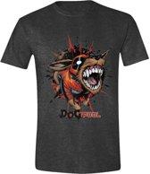 Deadpool - Dogpool Mannen T-Shirt - Grijs - XL