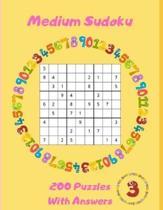 Medium Sudoku - 200 Puzzles With Answers: Large Print - Volume 3