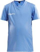 Craft Squad Jersey Solid SS Shirt Junior  Sportshirt - Maat 122  - Unisex - blauw/wit Maat 122/128