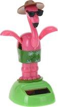 Tender Toys Solarfiguur Flamingo 10 Cm Roze