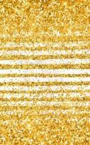 Glitzer Notizbuch: Gold Glitzerlook Buch, marmorierte Seiten zum Selbstgestalten, Streifen und Konfetti Design