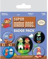 NINTENDO - Pack 5 Badges - Super Mario Bros