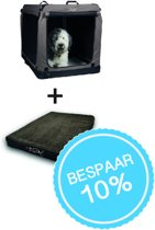 Trendpet set Bench TPX110-Pro - 110 x 70 x 75 cm compleet met Vitamedog koudschuim (memory foam) matras