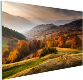 Rhodopean landschap Glas 180x120 - XXL cm - Foto print op Glas (Plexiglas wanddecoratie)