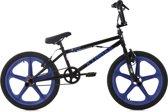 """Ks Cycling Fiets Freestyle BMX 20"""" Xtraxx blauw/zwart - ca. 28 cm"""