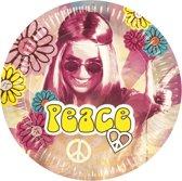 24 stuks: Set a 6 Bordjes - Hippie - 23cm