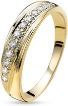 Twice As Nice ring in 18kt plaqué goud, zirkonia Wit 60