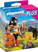 Playmobil Barbaar met Kampvuur en Hond - 4769