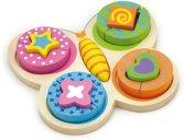 Puzzel New Classic Toys: vlinder 22x20x4 cm -