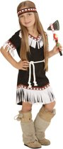 Zwart indianen kostuum voor meisjes - Verkleedkleding