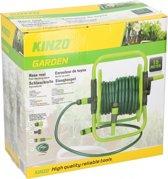 """Kinzo Garden Tuinslangset - vrijstaande slanghaspel - 15 meter tuinslang Ø1/2"""" - incl. 6 accessoires"""