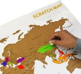 Scratch Map - Kras Wereldkaart - Groot