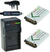 ChiliPower 2 x NP-BX1 accu's voor Sony - Charger Kit + car-charger - UK versie