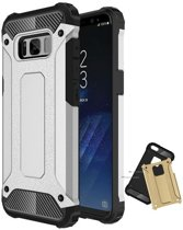 Teleplus Samsung Galaxy S8 Double Layer Tank Cover Case Silver hoesje