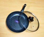 Volkskuchen Koekenpan met Deksel - Ø 24 cm- inductie