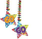 Spiraalversiering Birthday Blocks 60 jaar - 2 stuks