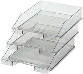 Postbakje transparant grijs - A4 formaat