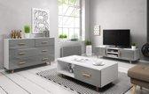 Woonkamer Set Grijs– Scandinavisch - Inclusief: TV meubel & Dressoir + Salontafel
