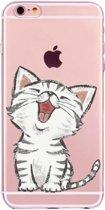 Apple Iphone 6 Plus / 6S Plus Siliconen hoesje (katje)