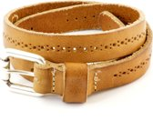 Kidzzbelts Meisjeskinderriem Smalle 1882 - Naturel  - 55 cm