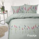 Papillon Fraukje - Dekbedovertrek - Eenpersoons - 140x200/220 cm + 1 kussensloop 60x70 cm - Groen
