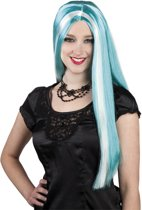 Halloween Pruik Aurora turquoise