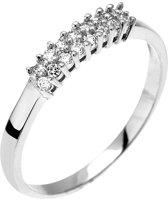 Montebello Ring Pachira - Zilver Gerhodineerd - Zirkonia – maat 56 - 17.8
