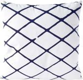 Sierkussen decoratie kussen Diamond 45 x 45 cm wit blauw