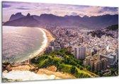 Canvas schilderij Uitzicht | Grijs, Groen | 120x70cm 1Luik