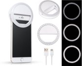 Selfie Ring Light Clip - voor alle smartphones en tablets