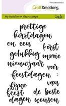 CraftEmotions stempel A6 - handletter - woorden kerst (Nederlands)