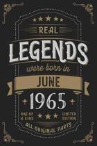 Real Legends were born in June 1965