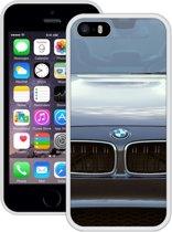 Case Creatives Telefoonhoesje BMW - iPhone 5 5s SE  Wit - Handgemaakt