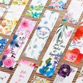ProductGoods - 30x Leuke boekenlegger in bloemen set