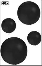 40x Mega Ballon 60 cm zwart