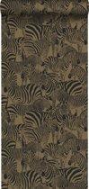 Origin behang zebra's glanzend goud - 347454