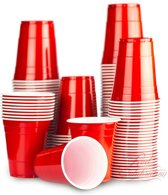 100 Red Cups original - American Party Cups  500ml - Beer Pong bekers