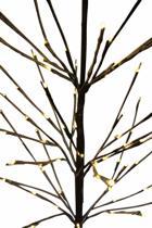 Lichttakken -Berkentwijg met besneeuwde takken - Kerstboom - 96 warm witte LED lampjes - 150 cm hoog