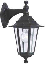 EGLO Laterna 4 - Buitenverlichting - Wandlamp - 1 Lichts - Zwart - Glas - Helder