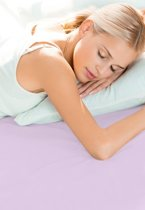 Schlafgut Hoeslaken Frottee Stretch (badstof) - 053-viola 140/200x160/200