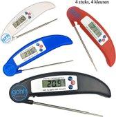 4 Digitale Kookthermometers - van -50°C tot 300°C - Gouda Select