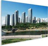 Het Zuid-Koreaanse Incheon in Azië Plexiglas 90x60 cm - Foto print op Glas (Plexiglas wanddecoratie)